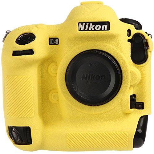 Easyhood カメラケース ニコン D4 D4S ソフトシリコンゴムカメラ 保護ボディケーススキン ニコン D4 D4S カメラバッグプロテクターカバー B07HLNT76Q イエロー