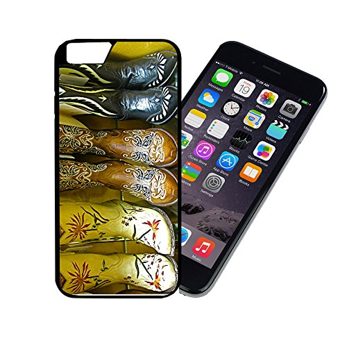 Basic Costumes Boots ([TeleSkins] - Cowgirl Boots - iPhone 6 / 6S Plastic Case - Ultra Durable Slim & HARD PLASTIC Highly Protective Vibrant Snap On Designer Back Case / Cover for Girls. [Fits iPhone 6 & 6S (4.7 inch)])