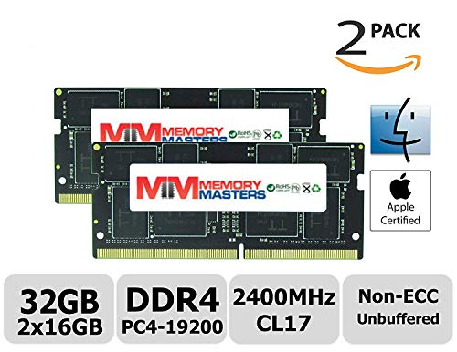 Price comparison product image MemoryMasters Apple 32GB Kit (2x16GB) DDR4 2400MHz PC4-19200 SODIMM Memory Upgrade for iMac Retina 4k / 5K 21.5-inch / 27-inch Mid 2017 (32GB Kit (2x16GB))