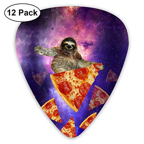 - MEILVWEN Sloth Galaxy Travel On Pizza Guitar Picks Gift Set(16 Pack Includes Thin Medium Heavy) for Electric Classic Bass and Acoustic Guitars
