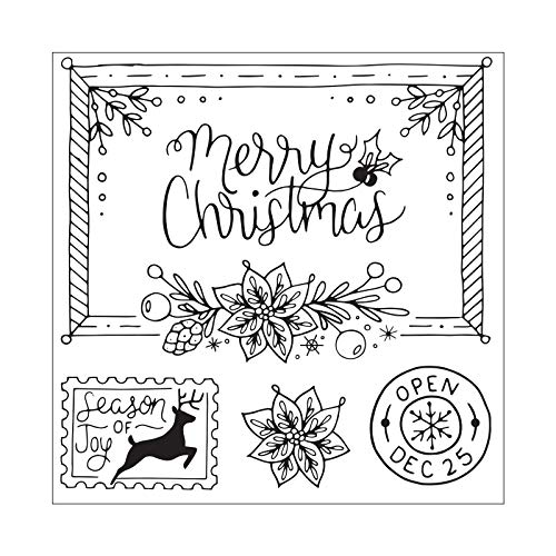 - Sizzix 663150 Framelits Die Set with Stamps Christmas Envelope, 7-Pack, Multicolor