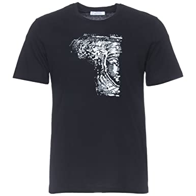 a51c2f460fa Amazon.com  Versace Collection Black Half Medusa T-Shirt  Clothing