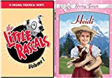 Classic Child Actors Series - The Little Rascals (Volume 1) and Shirley Temple in Heidi 2-DVD Bundle