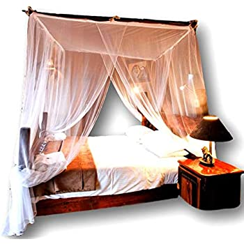 Jumbo Mosquito Netting Canopy for Queen/King Size Bed. Super-Thin Mesh Net Lets Breeze In and Bugs Out. Protect Your Sleep From Mosquitoes in an Exotic Nets ...