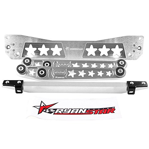 Ryanstar Silver Rear Lower Control Arm + Subframe Brace + Tie Bar Honda Civic EK Tie Brace Bar