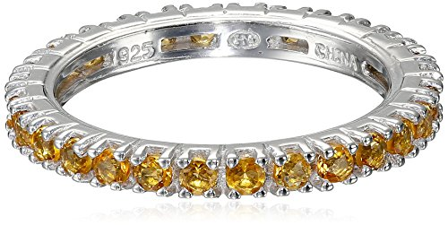 Stackable Birthstone Eternity Band - 7