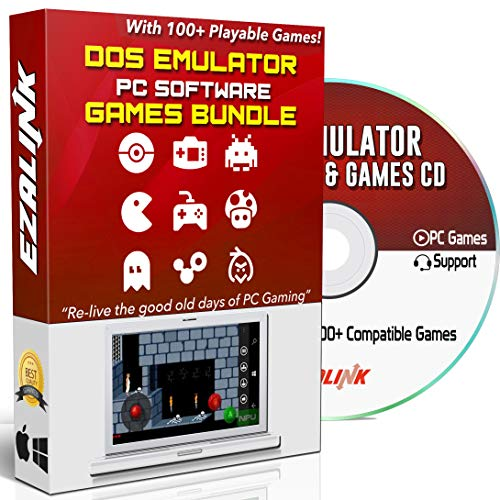 DOS Emulator Software DOSBox to Run Classic Games on Windows 10, 8, 7 PC & MAC CD Disc with 100+ Ready to Play Games ()