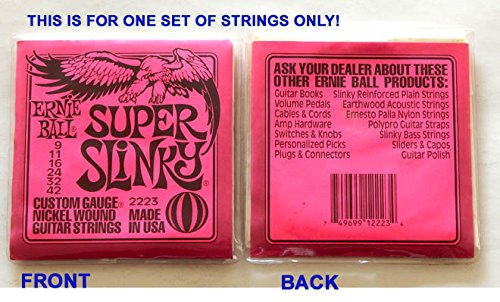 Ernie Ball Super Slinky Custom Gauge Guitar Strings 2223-1 Set Of 6 Strings - New Unopened Uncirculated Factory Sealed -