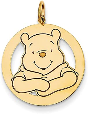 Roy Rose Jewelry Gold-plated Sterling Silver Goofy Charm Necklace Complete with Chain Trademark and Licensed