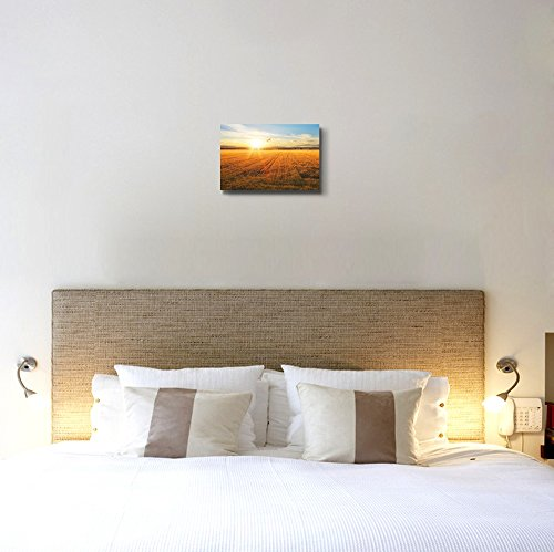Beautiful Scenery Landscape Sunset Over Wheat Field Home Deoration Wall Decor ing