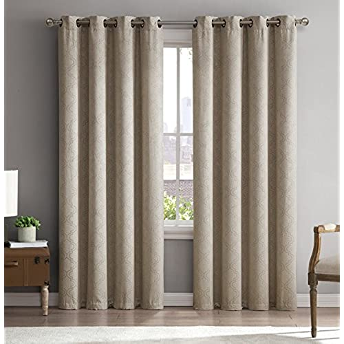 ME Redmont Lattice Wide Width Thermal Blackout Grommet Curtain Panel