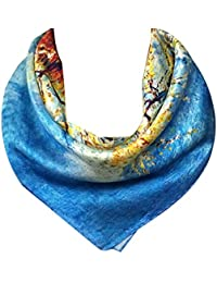100% Charmeuse Silk Square Scarf Neckerchief