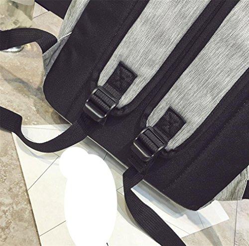 Signore borsa di tela spalla, zaino di corsa di svago grande capienza femminile, borsa studente tendenza moda, computer zaino, zaino di modo casuale