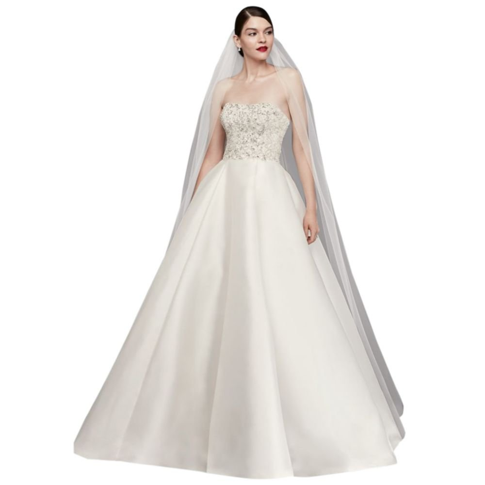 Single-Tier Raw Edge 165-Inch Cathedral Veil Style V703CXL, Ivory by David's Bridal