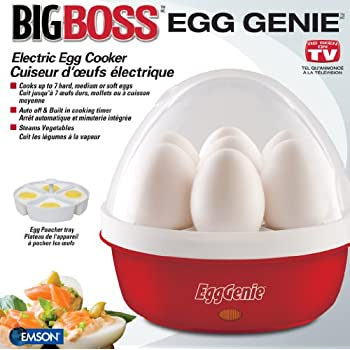 Big Boss 8863 Genie Electric Egg Cooker, Red