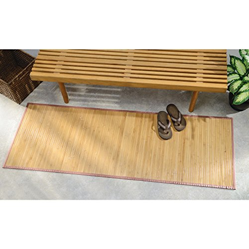 Bamboo Rug Runner: Bath Rugs InterDesign Bamboo Floor Runner 24 By 72 Inch