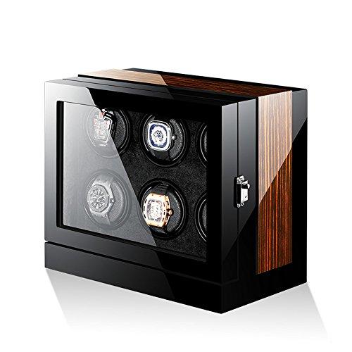 Lujo Automático Inteligente Cajas para Relojes Cajas De Almacenamiento para 6 Relojes, Watch Winders+ Pantalla Táctil LCD +...