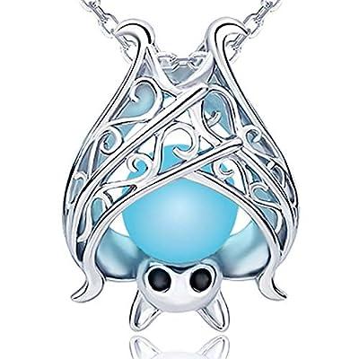 Sterling Silver Bat Necklace Pendant