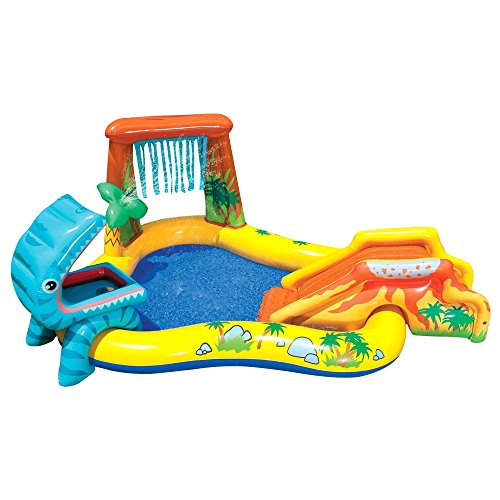 Dinosaur Play Center Inflatable Kids Set & Swimming Pool w/Electric Pump by Intex