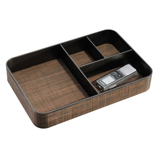 InterDesign Twillo 4-Section Stacking Divided Tray, Large, Bronze - Hickory Bathroom Sink Vanity