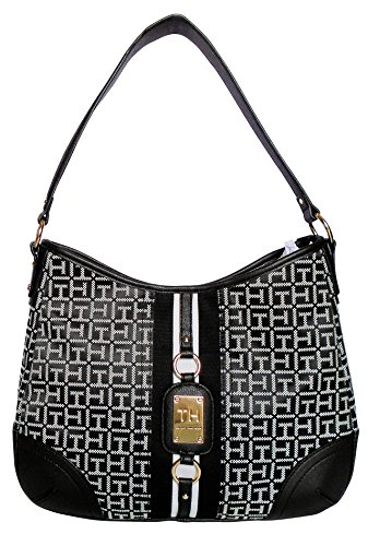 Tommy Hilfiger TH Signature Hobo Handbag ( Black )
