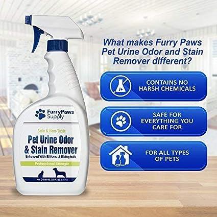 Amazon.com : Furry Paws Quita manchas y quita olores de orina de ...