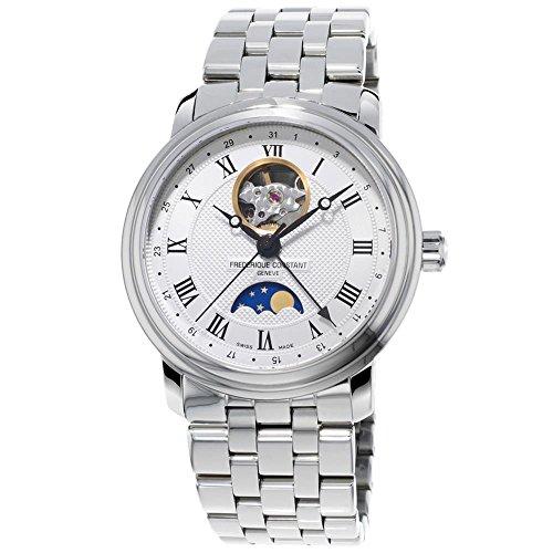 Frederique Constant Men's Classics Moonphase 40mm Steel Bracelet & Case Automatic Watch FC-335MC4P6B2