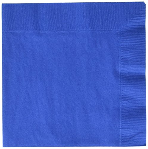 (Party Ready Disposable 2-Ply Luncheon Napkins Tableware, Marine Blue, Paper , 6