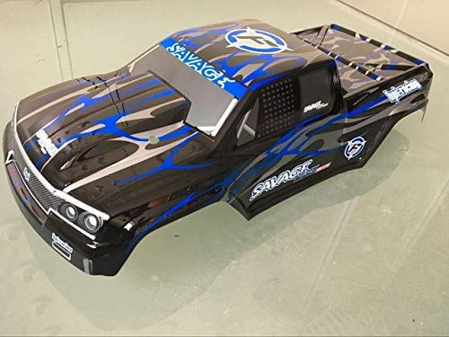 Part & Accessories 1/8 1/10 Scale RC Painted MT truck Body HPI Savage X4.6Flux F4.6 VRX Redcat losi FS kyosho T maxx E-MAXX cc01 - (Color: savage 2)