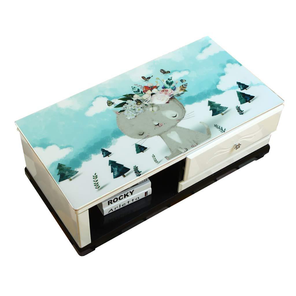 Hongsebuyi Tischdecke PVC Transparent Weichplastik Tischdecke Antifouling Anti-Verbrühung Tee Tischdecke Kaffee Tischdecke Dicke 1,5 MM (größe   60×120CM) B07MNZW86Z Tischdecken Großer Räumungsverkauf       Stil