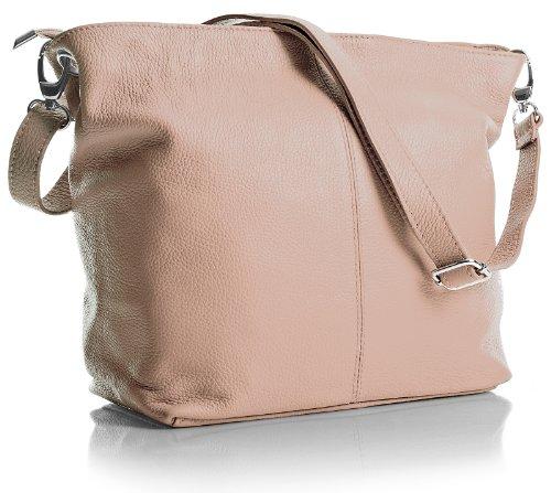 cuir pâle main Shop bandoulière Medium Hobo rose à Handbag en italien Sac à véritable Sac Big wnpYqxZWUC