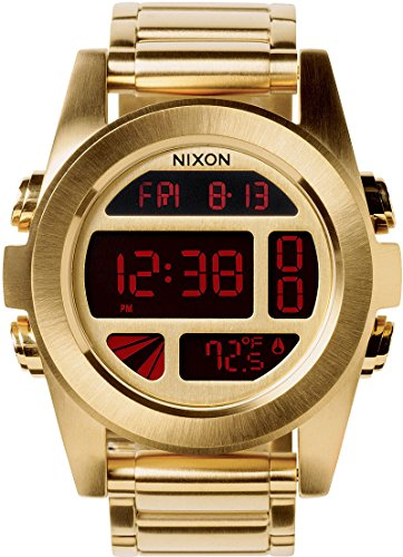 Nixon Unisex The Unit SS All Gold Watch One - Watches Nixon Mens Gold