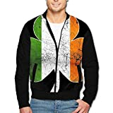 Irish Flag Shamrock Cool Design Men's Classic Zipper Jacket Coat