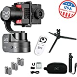 EVO SS Wearable Gimbal Stabilizer for GoPro Hero4, Hero5 Black, Yi 4K+, Garmin Virb Ultra 30 - 1 Year USA Warranty | Bundle Includes: EVO SS Gimbal + Extra Batteries + Wireless Remote + Tripod Stand