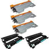 Shop At 247 ® Compatible Toner Cartridge Replacement for Brother TN450 + DR420 (3 Toner, 2 Drum, 5-Pack)