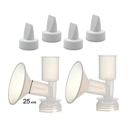 25 mm, Standard, 1-Piece Maymom Breast Shield Flange for Ameda Breast Pumps