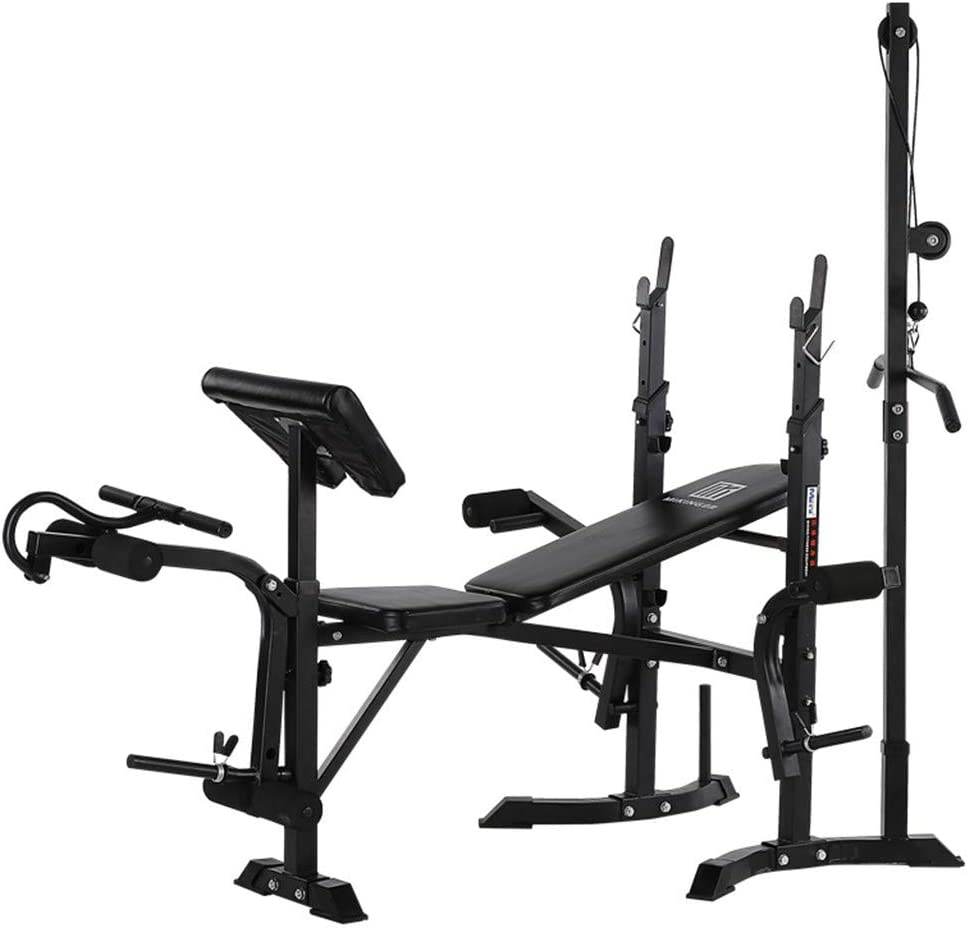 WT-857 Pro Foldable Multifunctional Weight-lifting Bed Weight lifting Machine Fitness Equipment Olympic Weight Bench for Full-Body Workout
