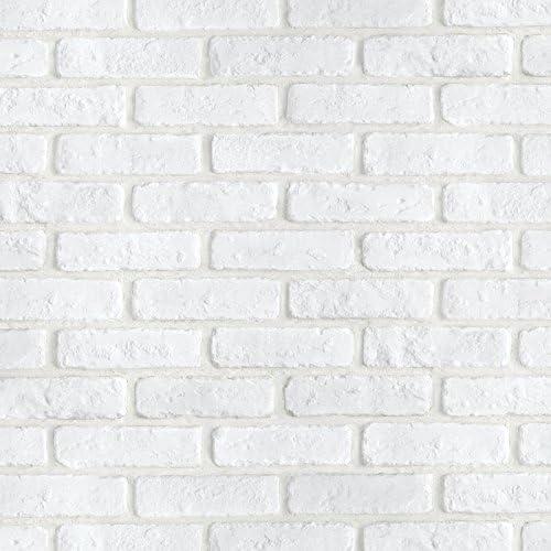 Magicfix はがせる壁紙 シール式 50cm幅x1メートル単位 (DBS-24 ホワイトブリック)