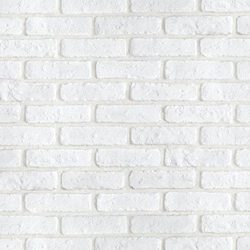Magicfix はがせる壁紙 シール式 50cm幅x30メートル単位 (DBS-24 ホワイトブリック) B0159Y1QO0 30メートル単位|DBS-24 ホワイトブリック