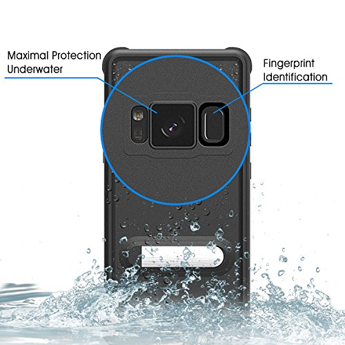 SPARIN Galaxy S8 Plus Waterproof Case, Full Body Sealed Shockproof / Dirt-proof / Snow-proof Underwater Protective Case Cover for Samsung Galaxy S8 Plus 6.2 Inch, 2017 Release (Black)
