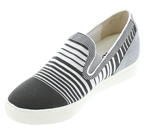 CALTO H55063-2.4 inches Taller - Height Increasing Elevator Shoes - Grey Slip-on Fashion Sneakers outlet deals cheap sale marketable really new online lyK37jG