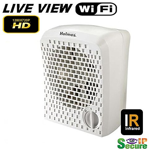 Wifi Remote Viewing Day & Night Vision Air Purifier Hidden Spy Camera 1080P High Definition Secureshot DVR Up to 128GB SD (Nanny Cam Air Purifier)