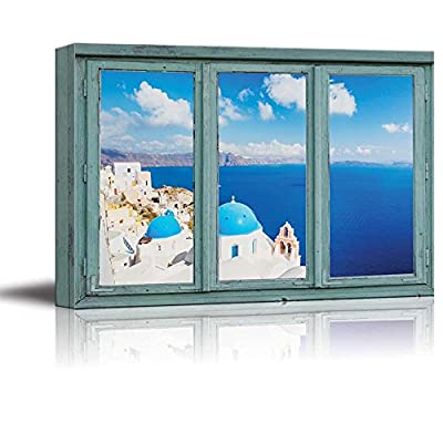 3 Frame Window Overlooking a Beautiful City by The Ocean, Premium Creation, Dazzling Design