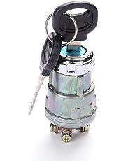 Easy-topbuy 12V Interruptor de Arranque de Encendido de 4 Posiciones con 2 Teclas Cerradura