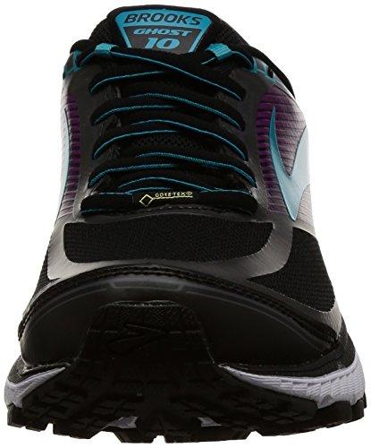 Brooks Ghost 10 GTX, Zapatillas de Running Para Mujer Negro (Black/peacockblue/hollyhock 1b089)