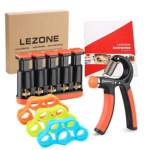 Hand Grip Strengthener(22-88lbs) & Finger Exerciser(3-9 lbs),Finger Flexibility & Hand Grip Strength Kit-Come with Instruction