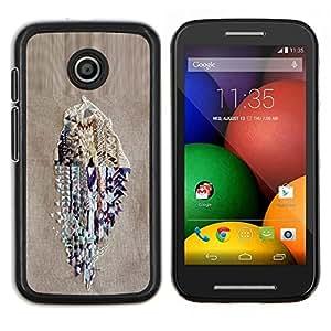 LECELL--Funda protectora / Cubierta / Piel For Motorola Moto E -- Monster Rock Radio Retro Enorme --