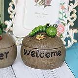 Hongyan Ashtray Resin Ashtray, European Living Room Creative Animal Ashtray (Two Optional) A+ (Color : B)