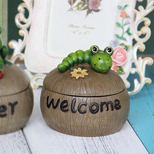 Hongyan Ashtray Resin Ashtray, European Living Room Creative Animal Ashtray (Two Optional) A+ (Color : B) by Hongyan