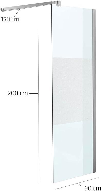 Mampara 90 x 200 x 150 cm rectangular Media Escarchado milchglas: Amazon.es: Jardín